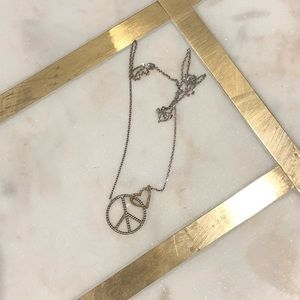 Jewelry - peace sign heart necklace